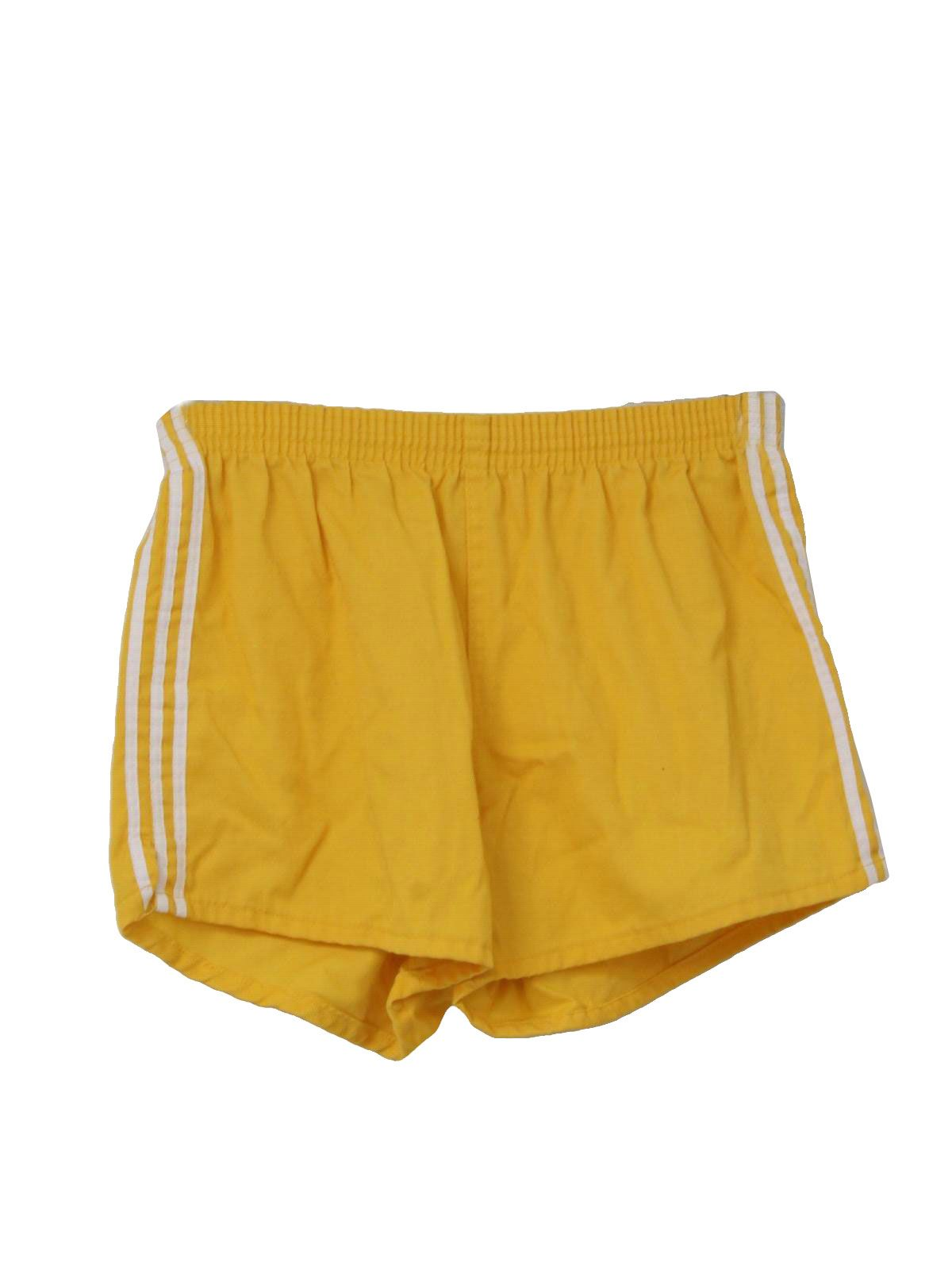 1980 S Mens Totally 80s Gym Shorts Gym Shorts Stripe