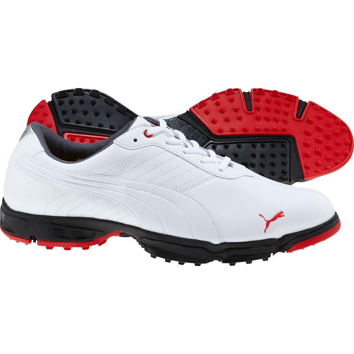 Puma Men's AMP Scramble Golf Shoes White Puma mens