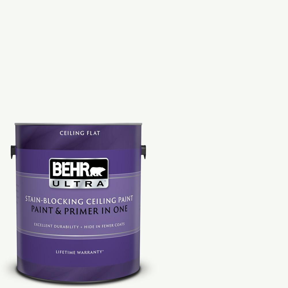 Behr Ultra 1 Gal Ppu18 6 Ultra Pure White Ceiling Flat Interior Paint And Primer In One 555801 Exterior Paint Behr Ultra Paint Primer