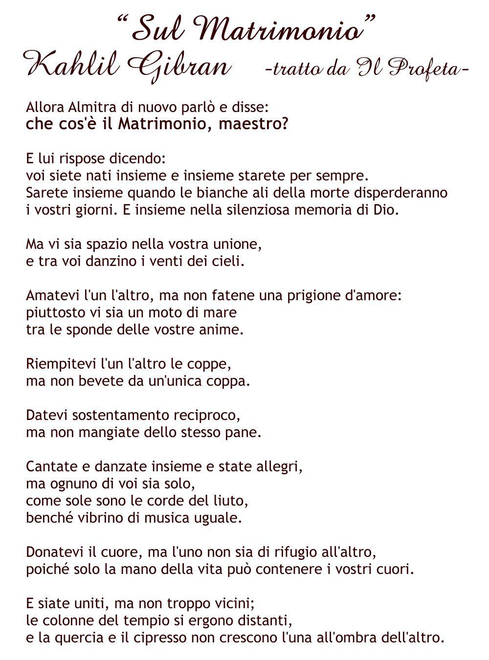 Kahlil Gibran On Marriage Matrimonio Poesía E Khalil Gibran