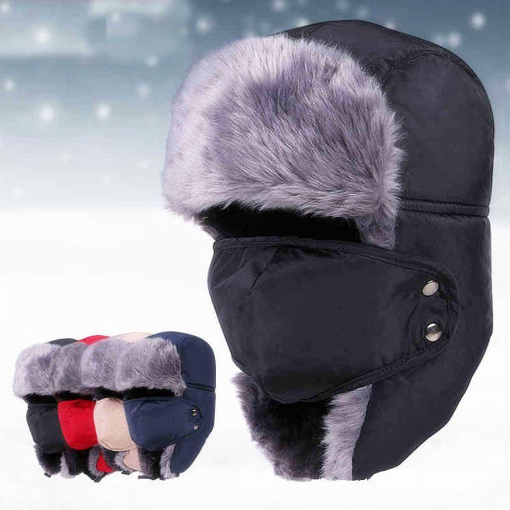 dc9ffe22bc5b2 Winter Warm Hat Unisex Ushanka Trapper Aviator Earflap Ski Mask Cap Hood  Fashion  fashion