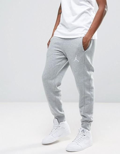 newest 0b2a9 d1c15 Nike Mens Jordan Flight Fleece Ribbed Cuff Basketball Sweatpants M 823071-063   Nike  Pants