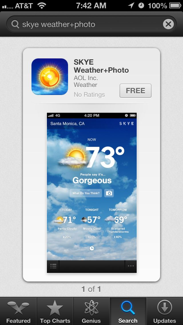 My app is now on the app store. Check it out. SKYE Weather