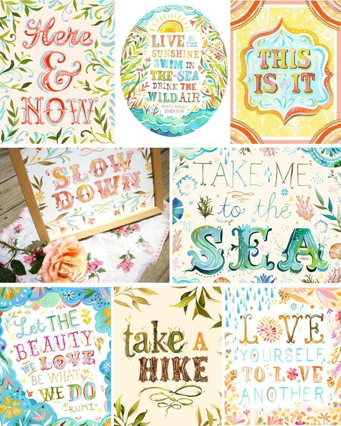 Colorful illustrations, prints and signs with quotes and ...  Vintage Wedding Quotes
