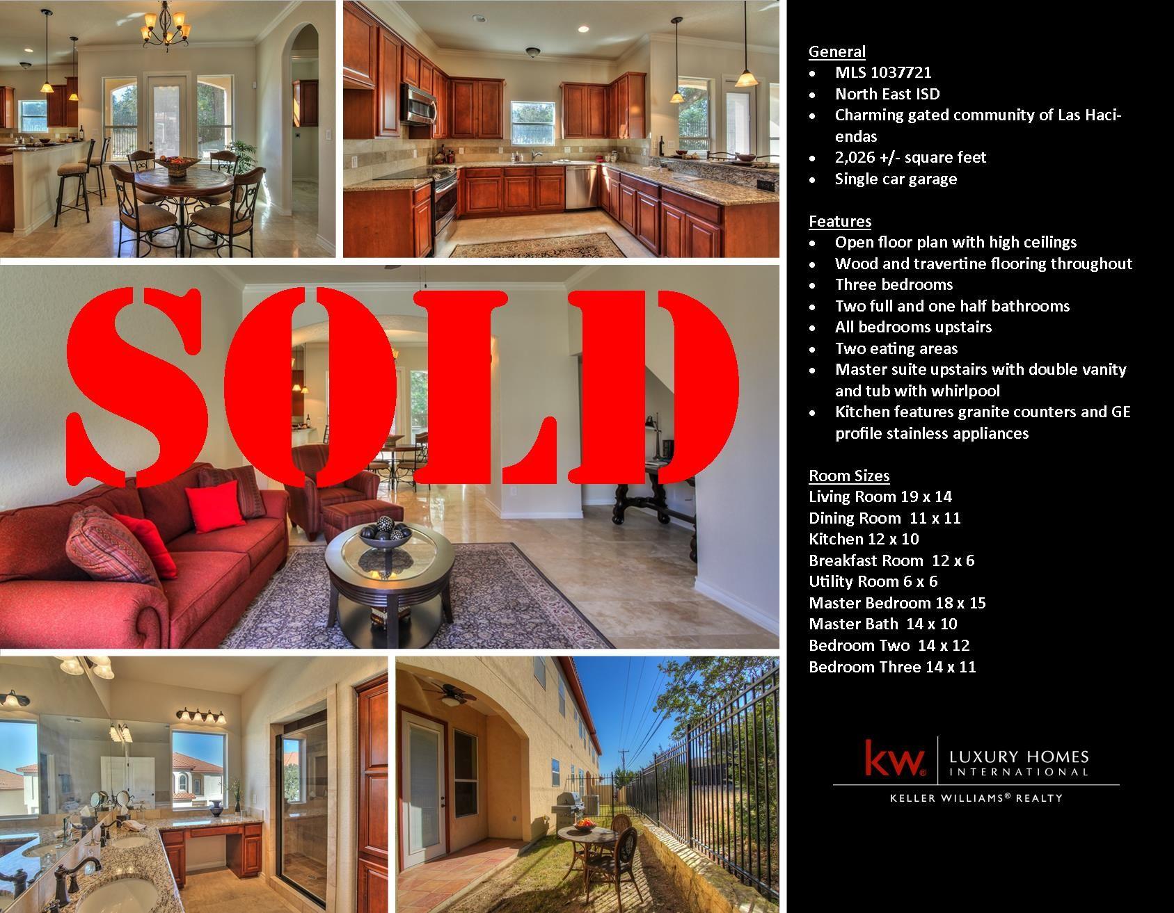 Sold in Las Haciendas of Stone Oak by Trish Najim Real Estate! If