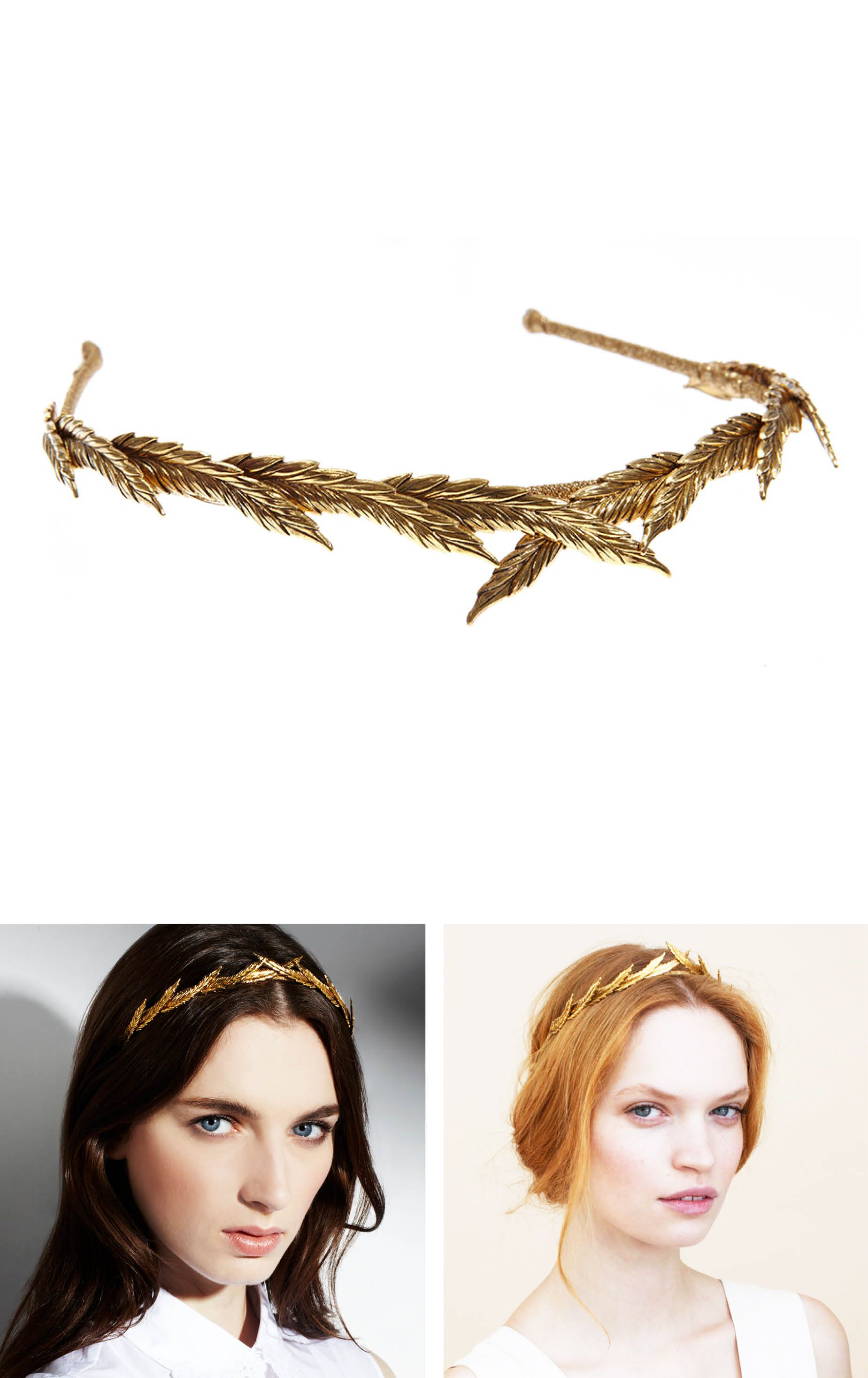 The Eris Headband by Jennifer Behr can be worn with hair up or down ...