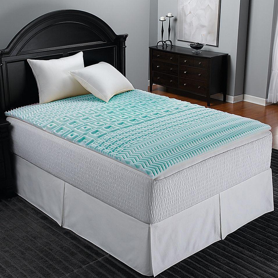 Sleep Zone 5 Zone Foam Cot Mattress Topper In Blue In 2020 Foam