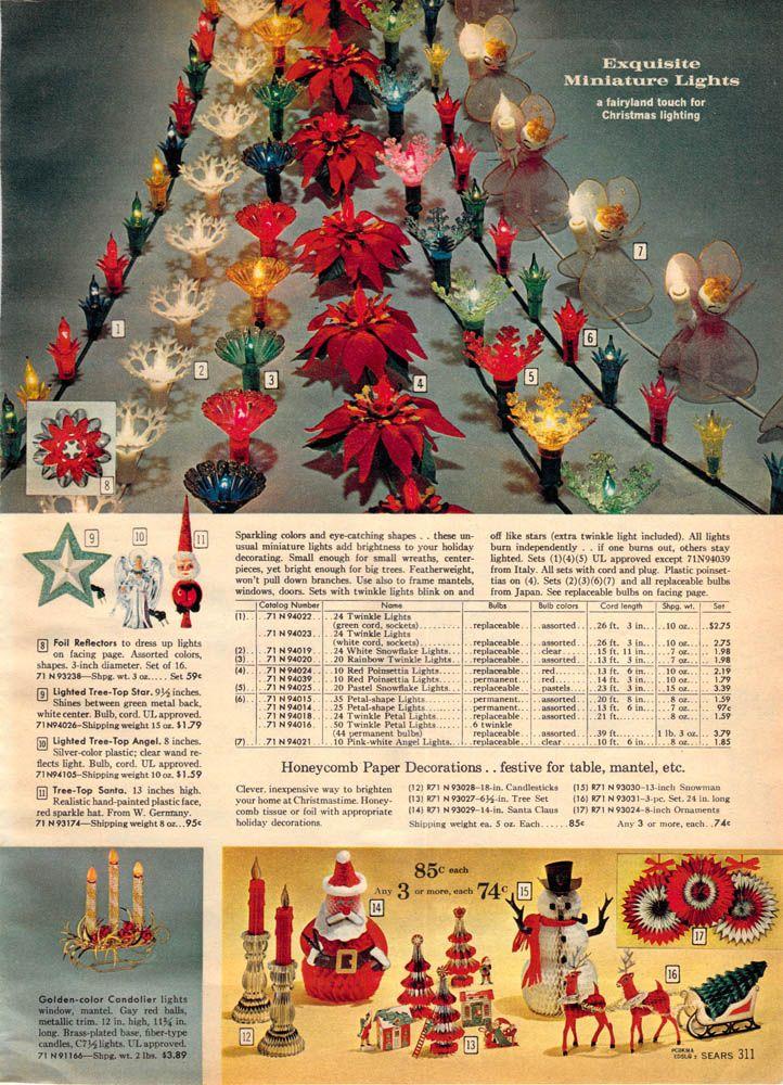 1962 Christmas lights. Sears Christmas Catalog, via www.wishbookweb ...