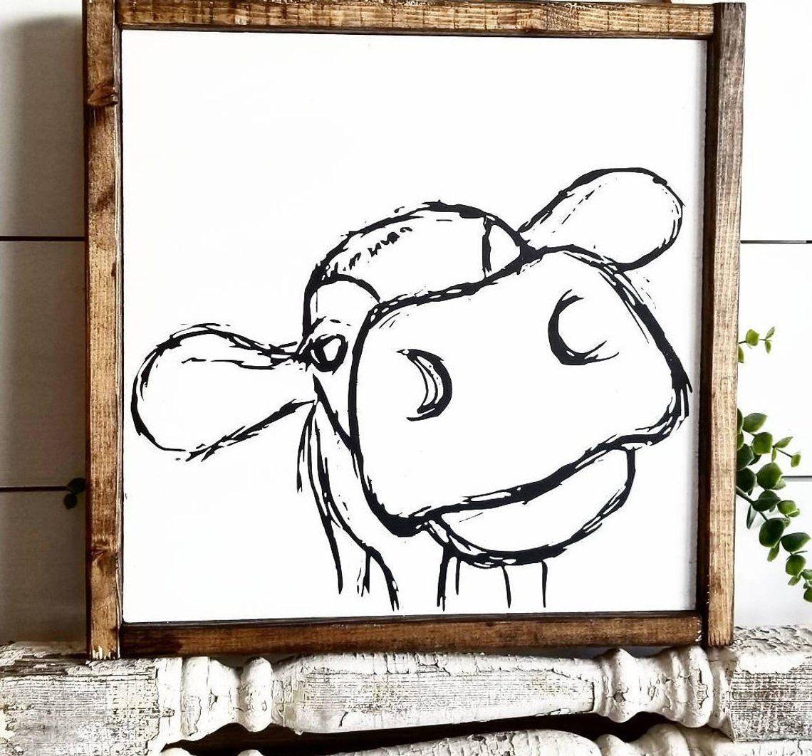 Farmhouse sign cow sign rustic sign farmhouse decor
