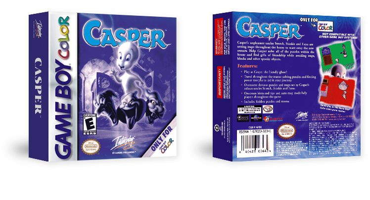 Casper Package for the Game Boy Color | Universal projects ...