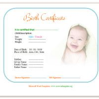 Certificate Templates Microsoft Word Endearing Birth Certificate Template Httpwww.savewordtemplatesbirth .