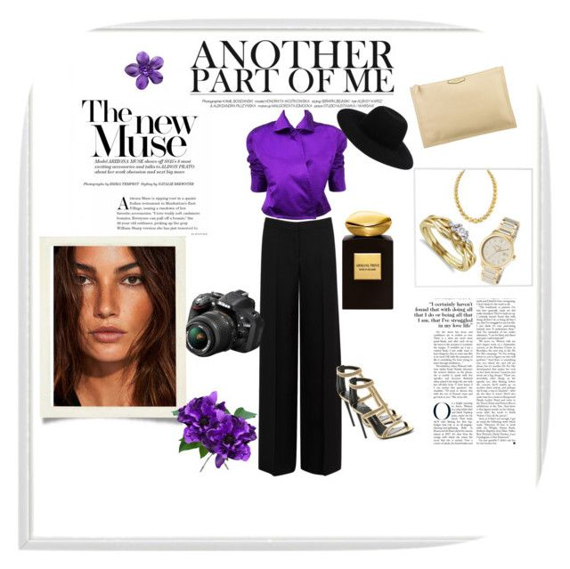"""""""The new Muse..."""" by naya-dg ❤ liked on Polyvore featuring Alexander McQueen, Ralph Lauren, Givenchy, Miadora, Giorgio Armani, Tom Ford, Versace, Off-White, Nikon and Menu"""