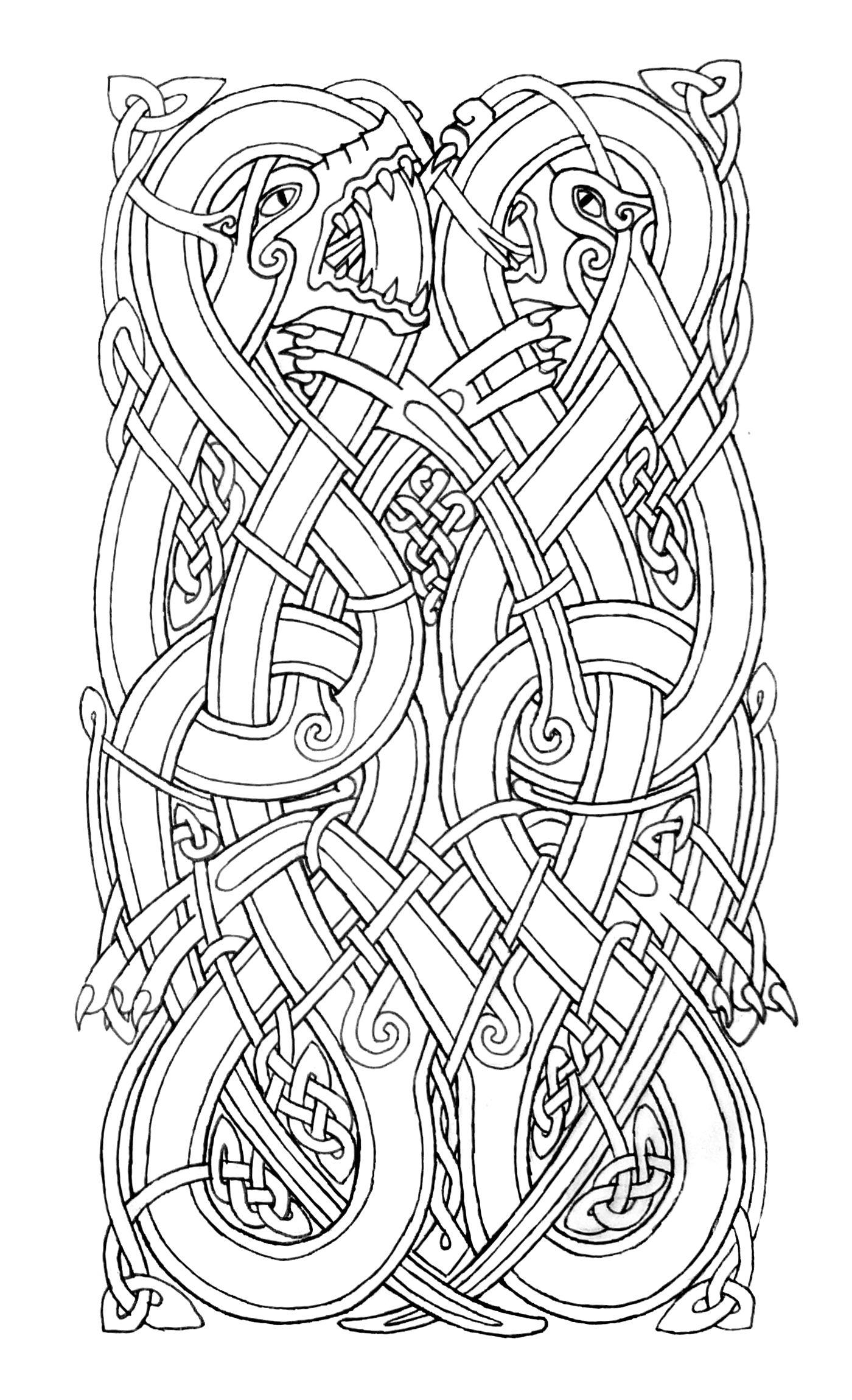 Norse Knots Google Search Norse Design Celtic Dragon Norse Tattoo