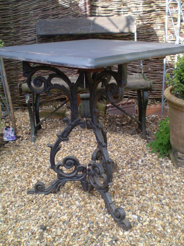 Superb Victorian Oak And Cast Iron Pub Table For Your Home Or Garden Vintage Chic Reclamation The Room