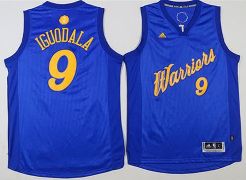 Warriors  9 Andre Iguodala Blue 2016-2017 Christmas Day Stitched NBA Jersey 155fc23d4