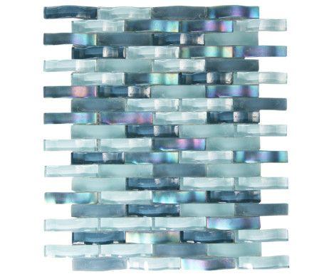 Ripple Stream Wavy Mosaic Glass Tile Mosaic Glass Glass Mosaic