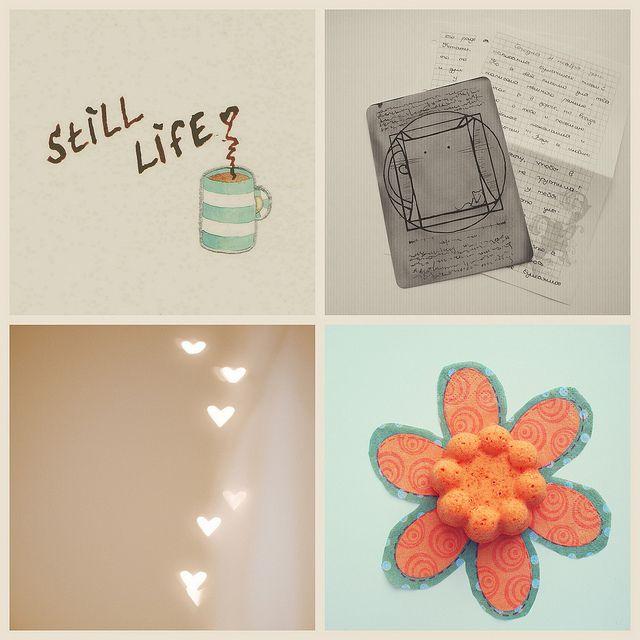 *** by Irene DM, via Flickr | #mosaicmontagemonday #montage #collage #orange #beige #brown #blue