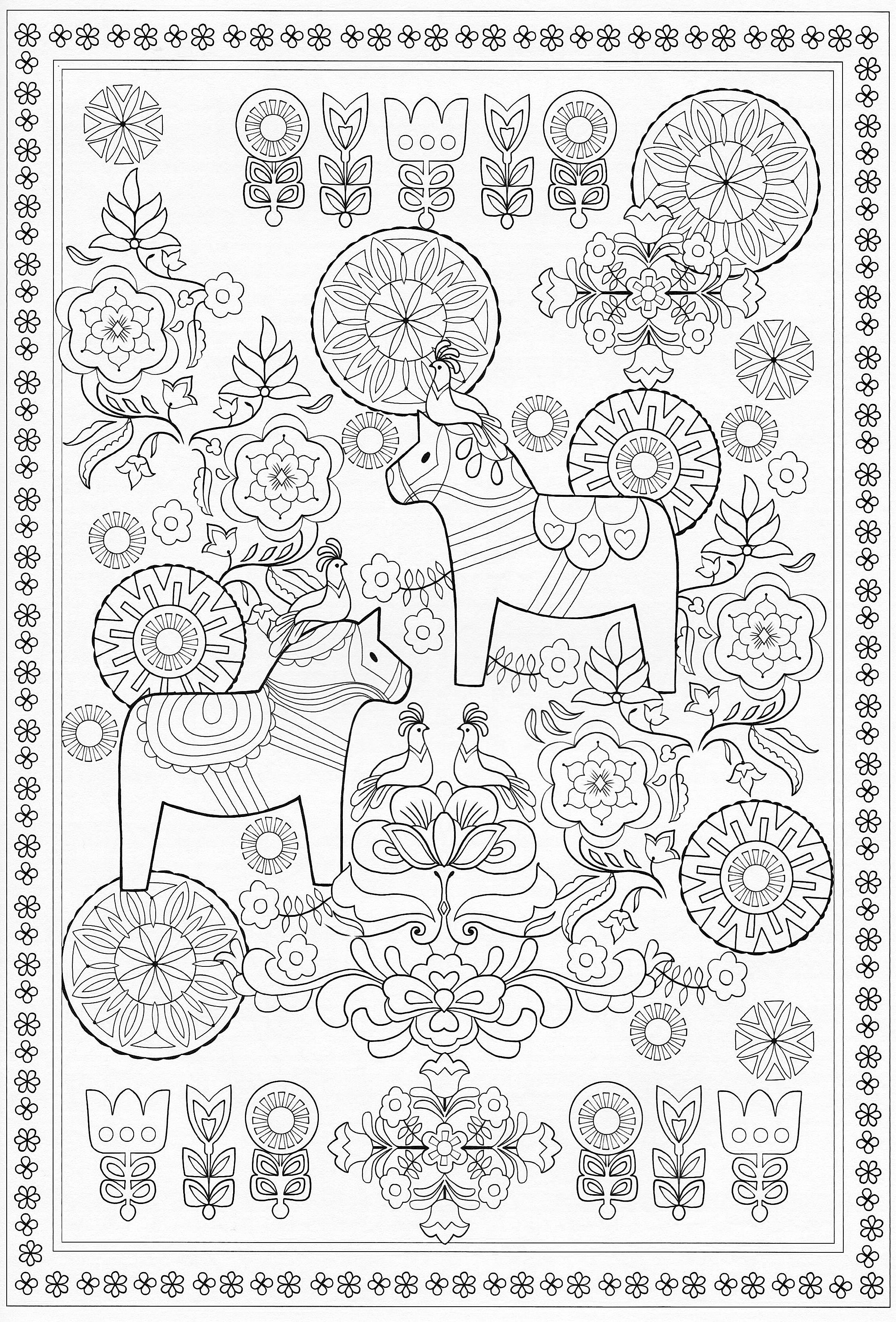 Scandinavian Coloring Book Pg 58 Would Make Cute Designs On An Ornament