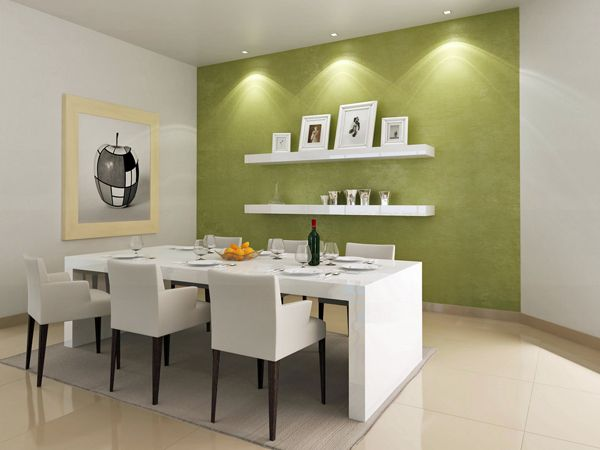 modern paint color dining roomjpg 600450 - Colorful Modern Dining Room