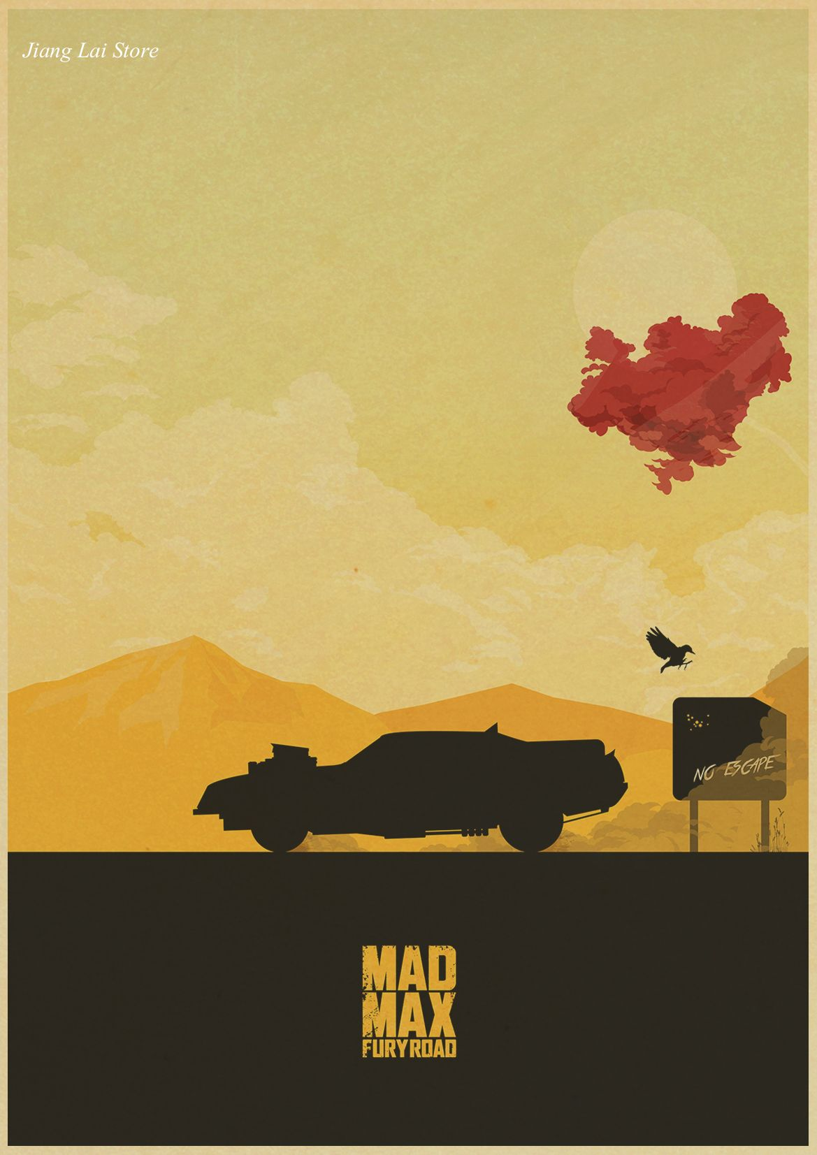 Mad Max movie retro Poster Retro Kraft Paper Bar Cafe Home Decor ...