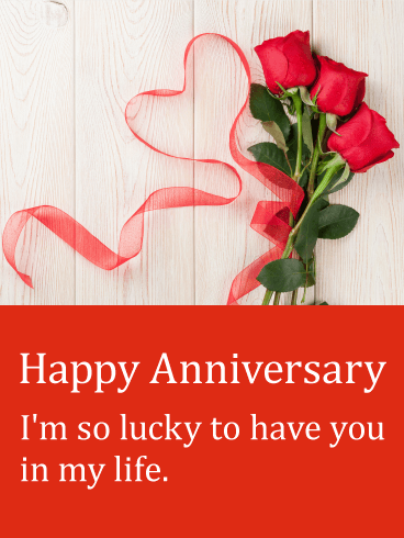 A special anniversary card!
