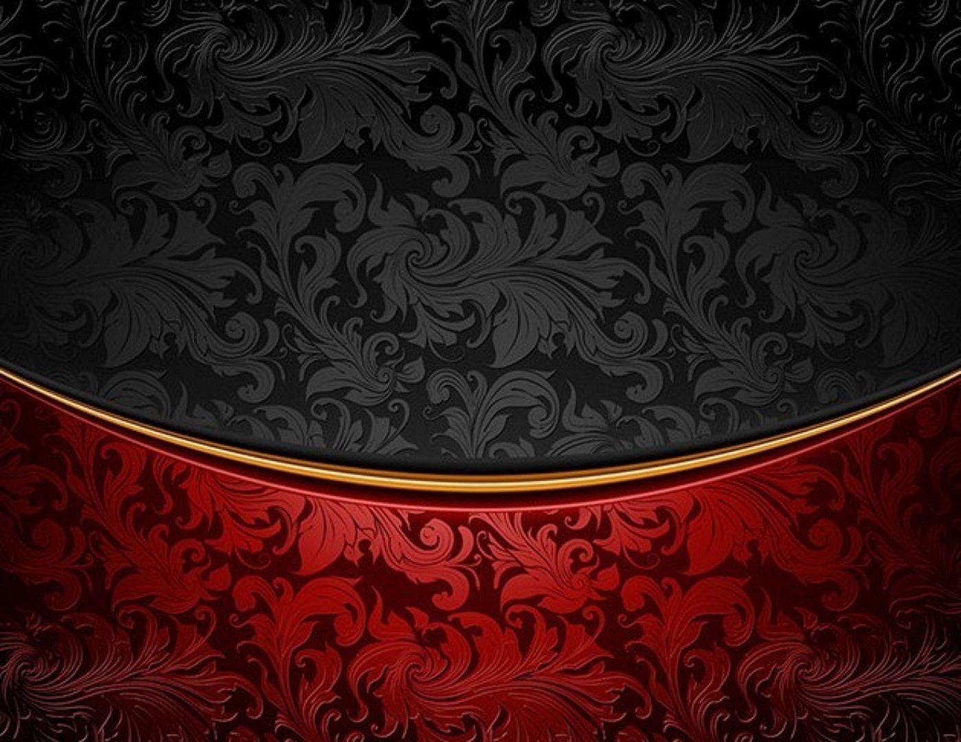 Vintage Red Black Floral Background Vector1 1400x