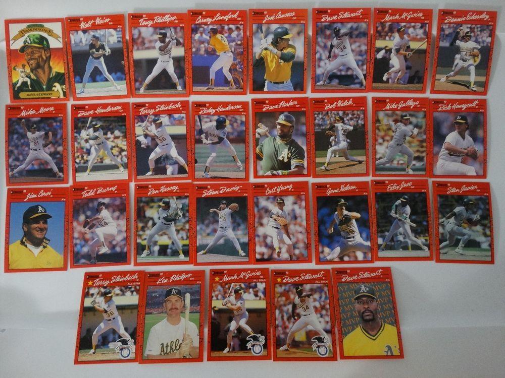 1990 donruss oakland athletics as team set of 29 baseball