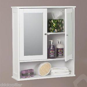 2 Door Mirrored Bathroom Cabinet White Wall Shaving Medicine Cabinet Storage Bathroom Cabinets Diy Wall Cabinet White Bathroom Cabinets