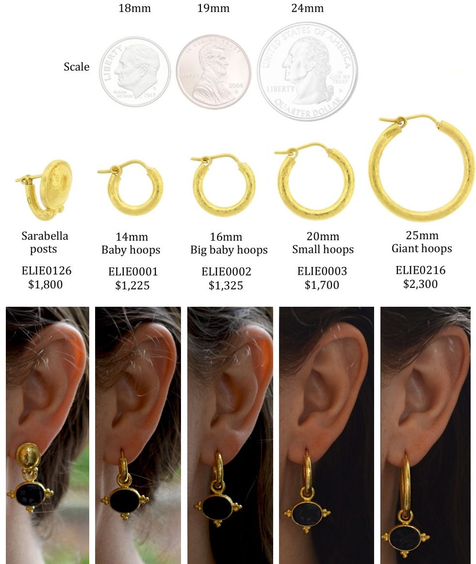 stud earring sizes Google Search Good To Know