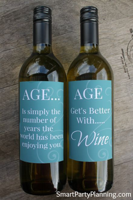 Fun Wine Labels For The Aged Birthday Wine Bottle Labels Birthday Wine Bottles Wine Gifts