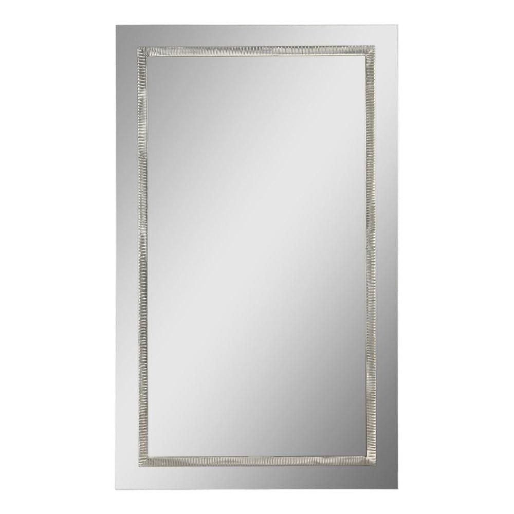 Ren Wil Luna 24 In X 40 In Transitional Framed Mirror Cli Fug9548474 The Home Depot Framed Mirror Wall Mirror Wall Rectangular Mirror