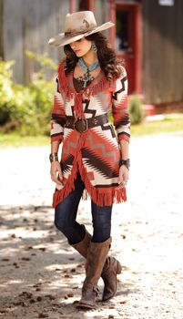 Red Horse Cardigan by Tasha Polizzi - I love both colors - red and blue!