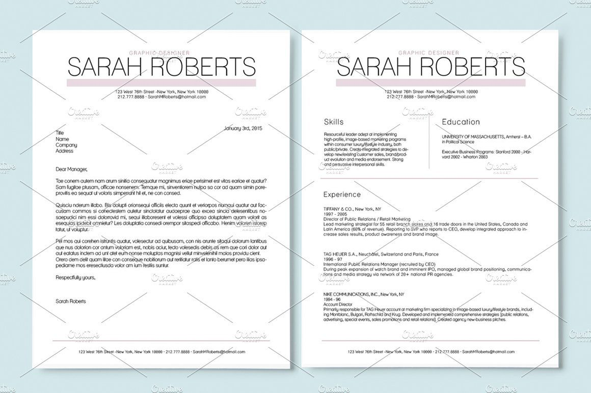 Resume Template Ad Affiliate Link Included Font Size