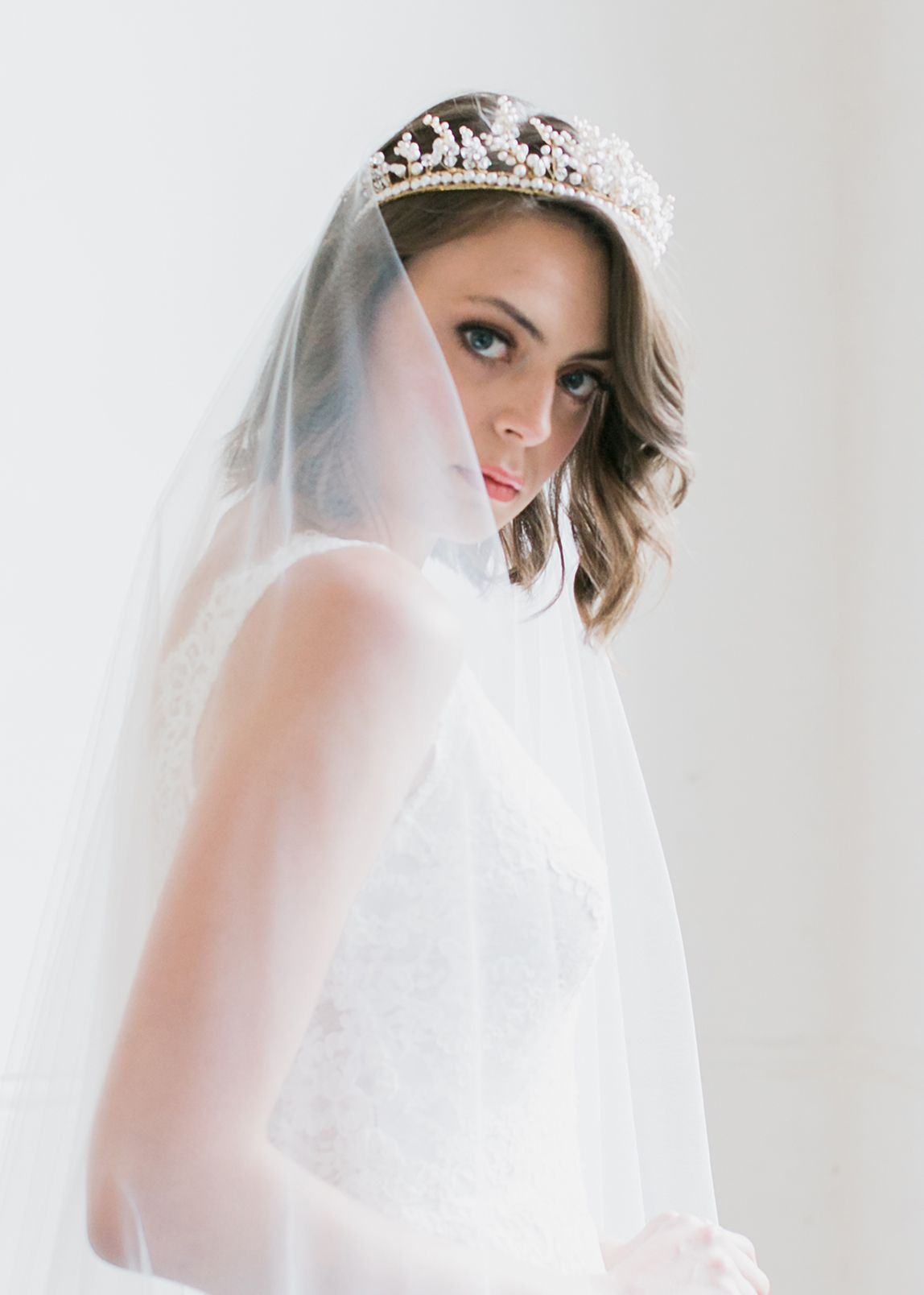 Designed for the unconventional bride, the Annabelle pearl wedding ...