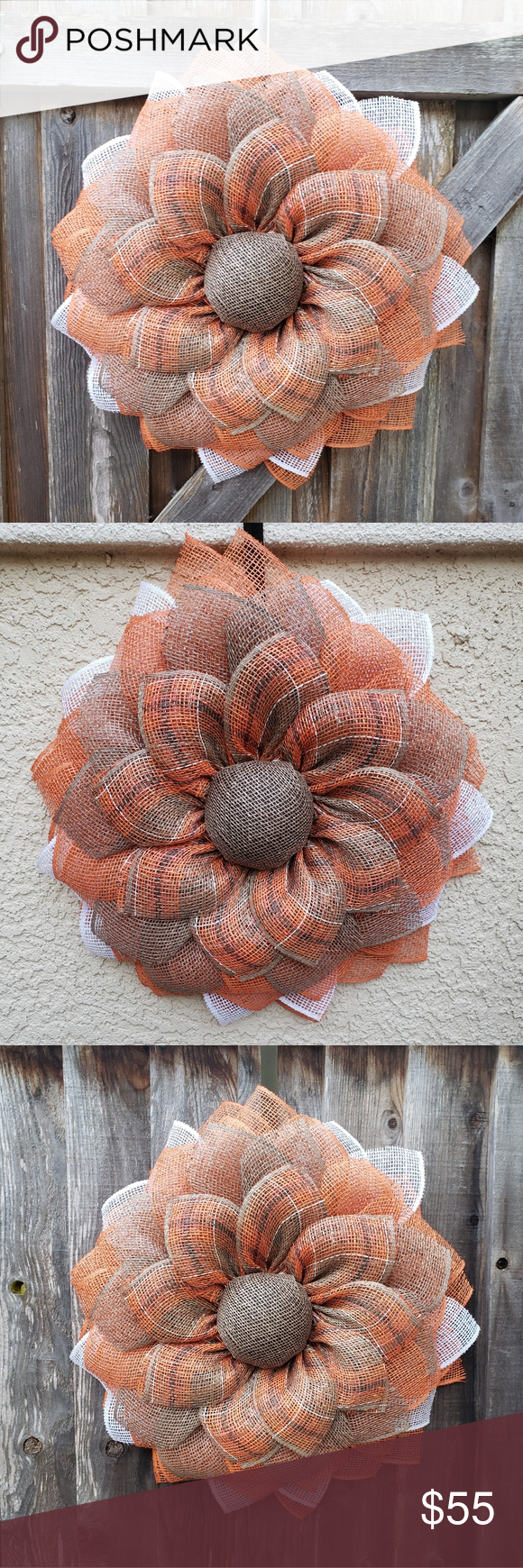 Photo of Handmade sunflower wreath, Door Wreath,Fall,Spring Handmade Made to Order 3D sun…