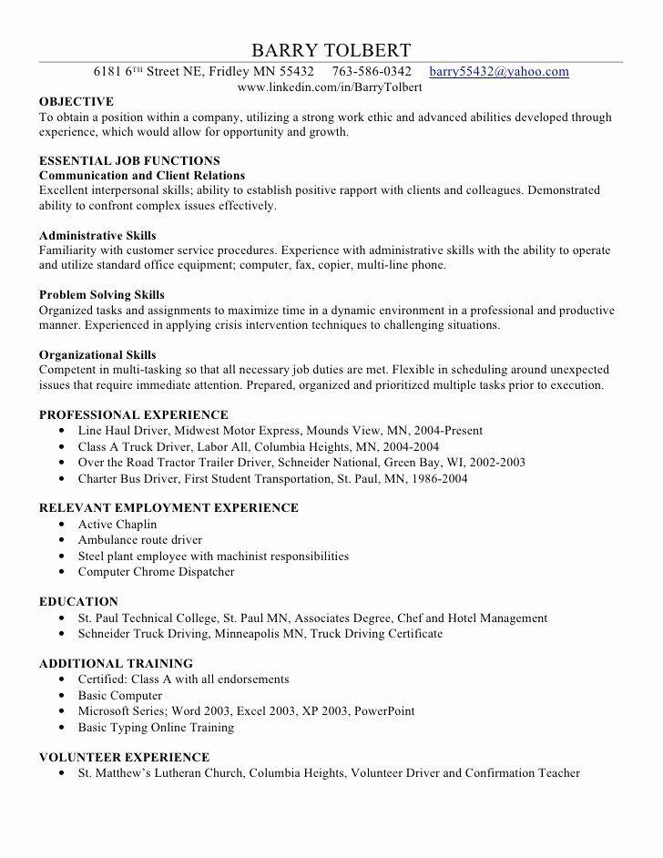 23 Excel Skills Resume Examples in 2020 Resume skills
