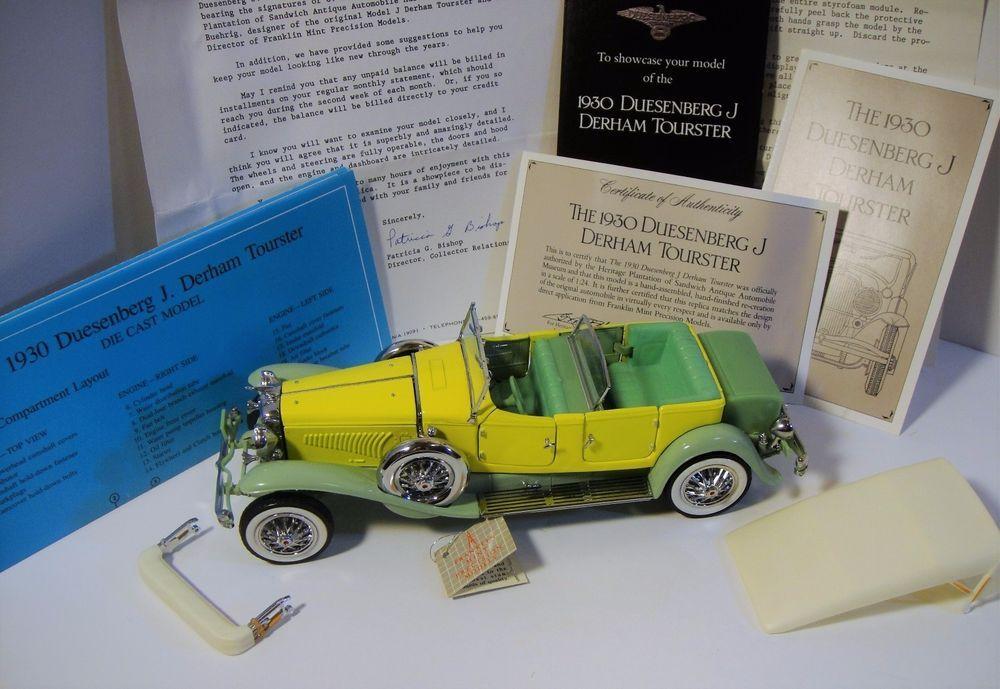 Franklin Mint 1930 Duesenberg J Derham Tourster 1 24 Franklinmint Franklinmint Franklin Mint Mint Toy Car