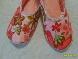 7.5 pattern for sewn house slippers