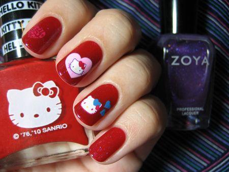 Simple Nail Design For Short Nails Hello Kitty 3 Nails Toe