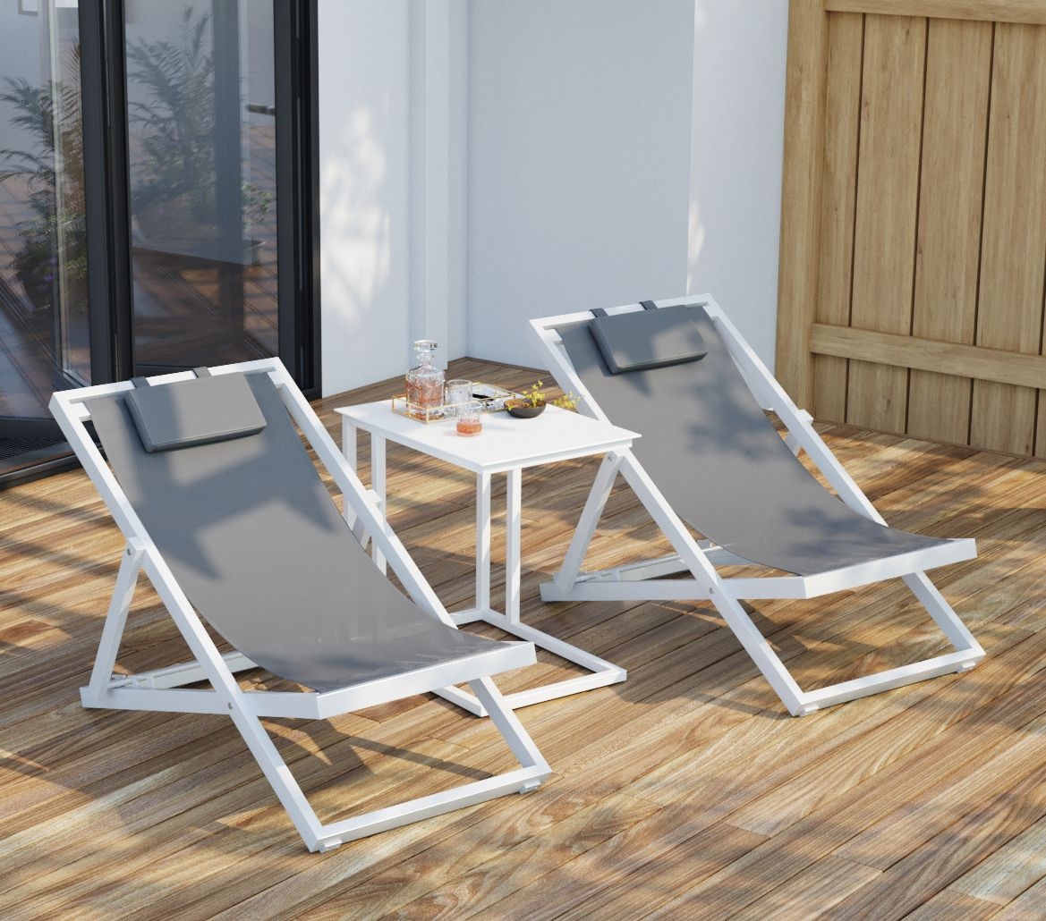 Loungings been made easy with solana outdoor easy chair patio set place your favourite drink