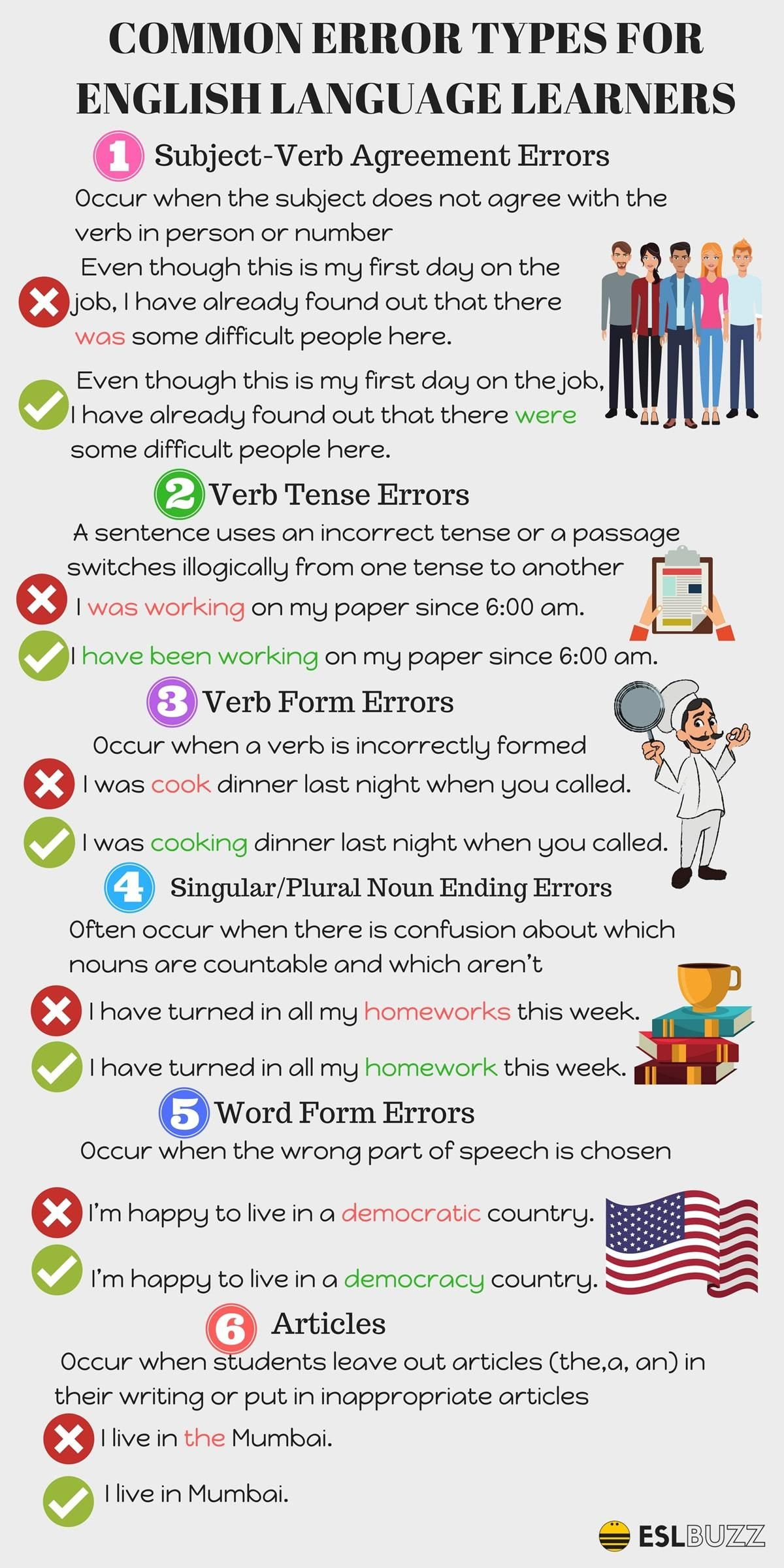 Common Mistakes In The English Language To Avoid