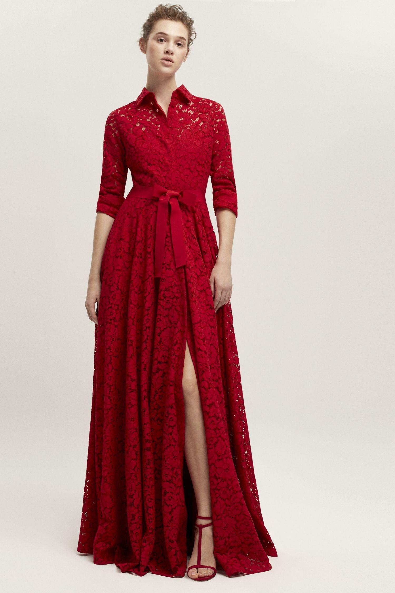 Resultado De Imagen Para Vestido Rojo Carolina Herrera