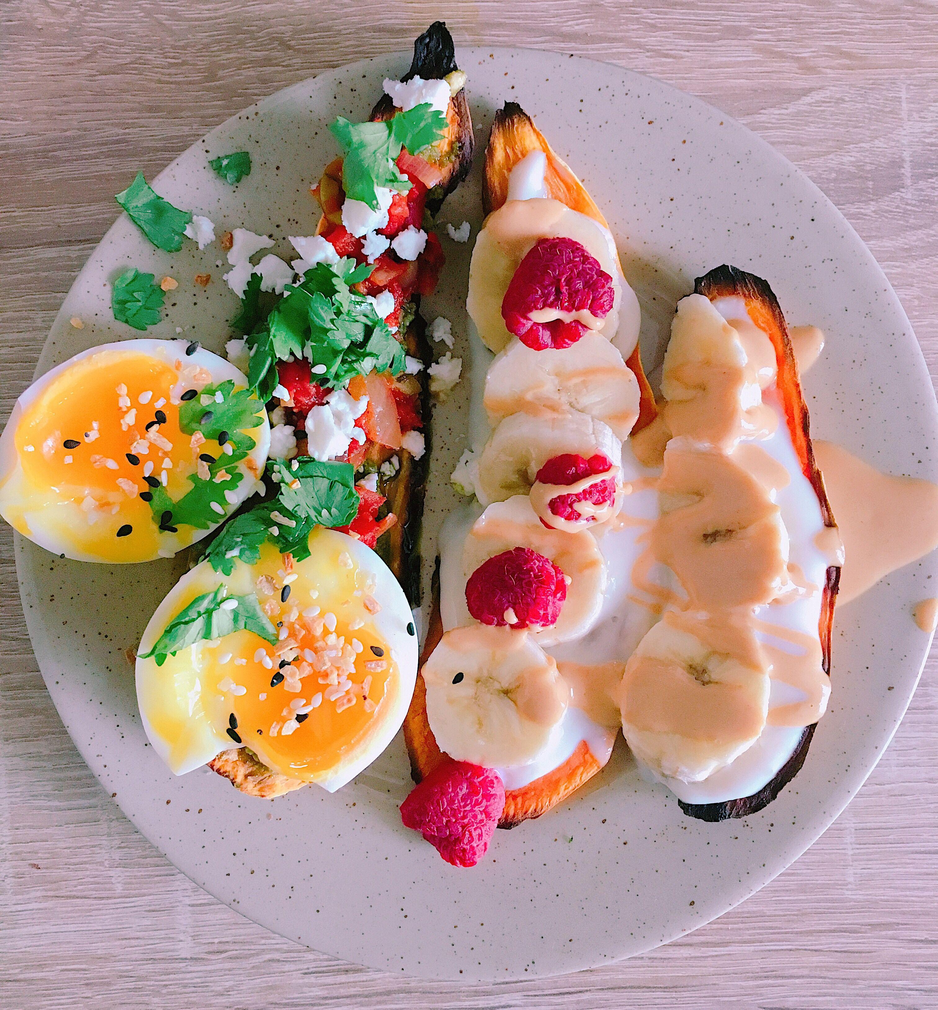 Toast De Patate Douce Sucre Et Sale Pour Un Petit Dejeuner Ou Un Brunch Parfait Facile A Faire Et A Agrementer Petit Dejeuner Healthy Petit Dejeuner Brunch