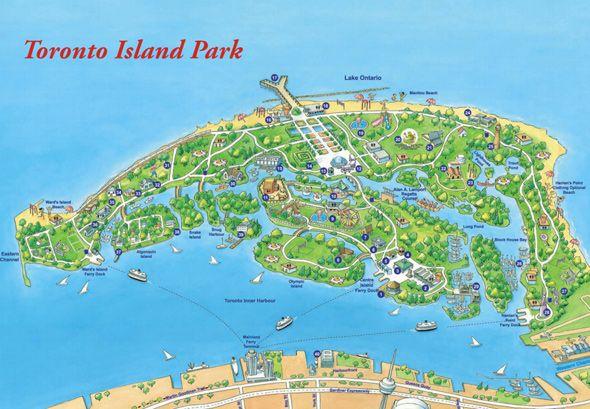Toronto Islands Map Toronto Island Map | Old Toronto | Pinterest | Toronto island  Toronto Islands Map
