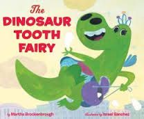 The last remaining dinosaur tooth fairy, now forlornly caring for her collection in a museum, just MUST have the tooth that a little girl loses while visiting -- but the human tooth fairy has other ideas! Just one of many kids' books reviewed at www.infodad.com. Direct link: http://transcentury.blogspot.com/2013/06/captivating-characters.html