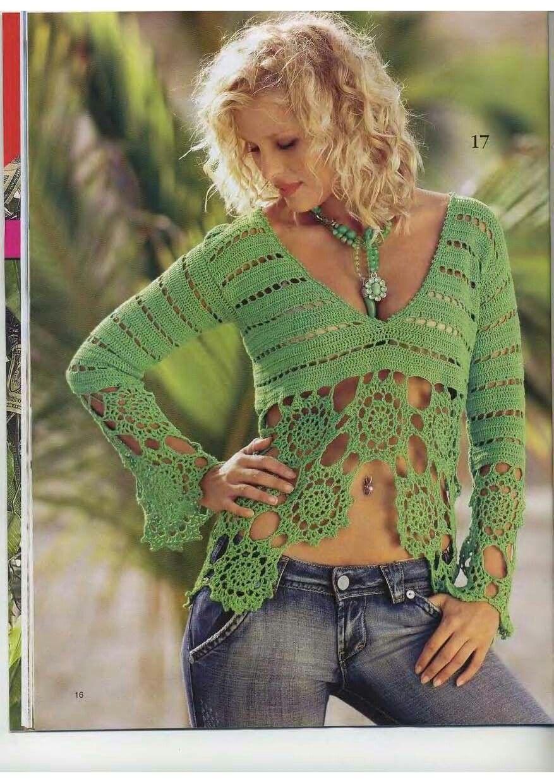 Pin von Just Dee auf Crochet Crop Tops | Pinterest