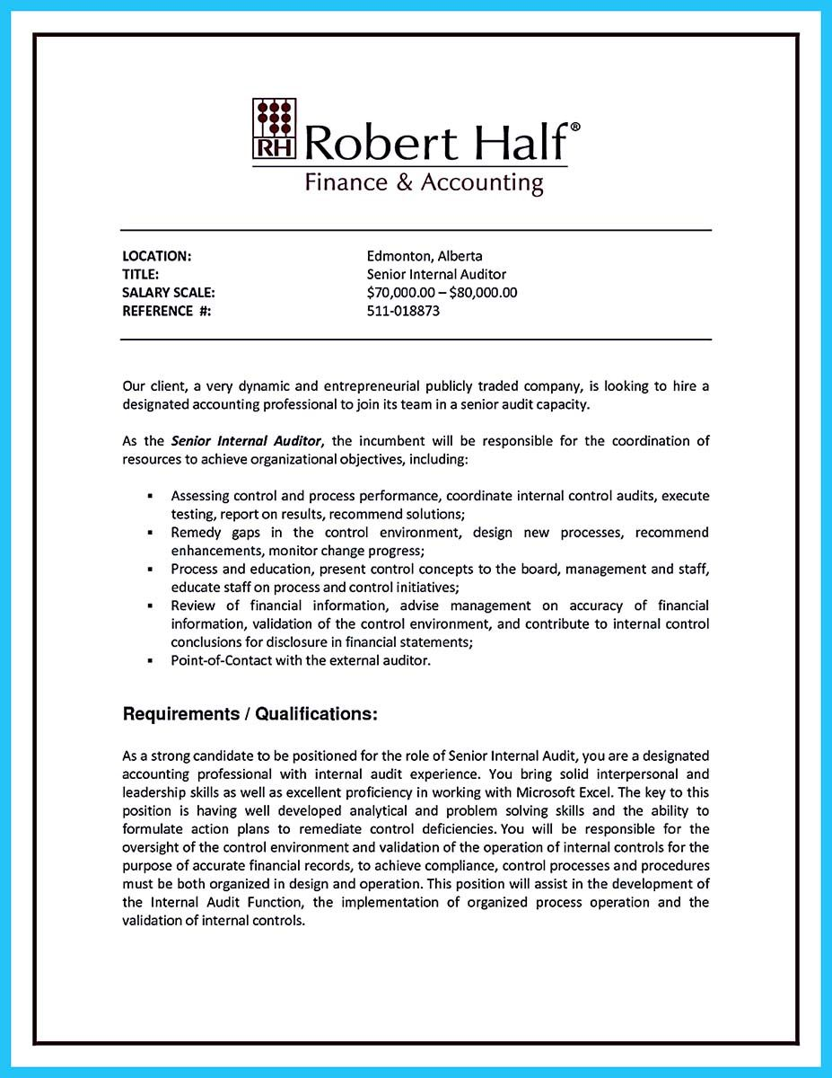 An audit resume is quite important to learn as you are