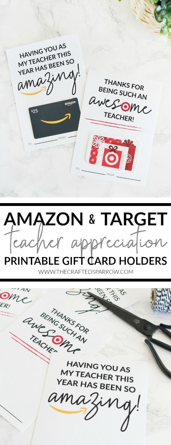 Photo of Amazon and Target Teacher Appreciation Printable Gift Card Holders – The C … -…