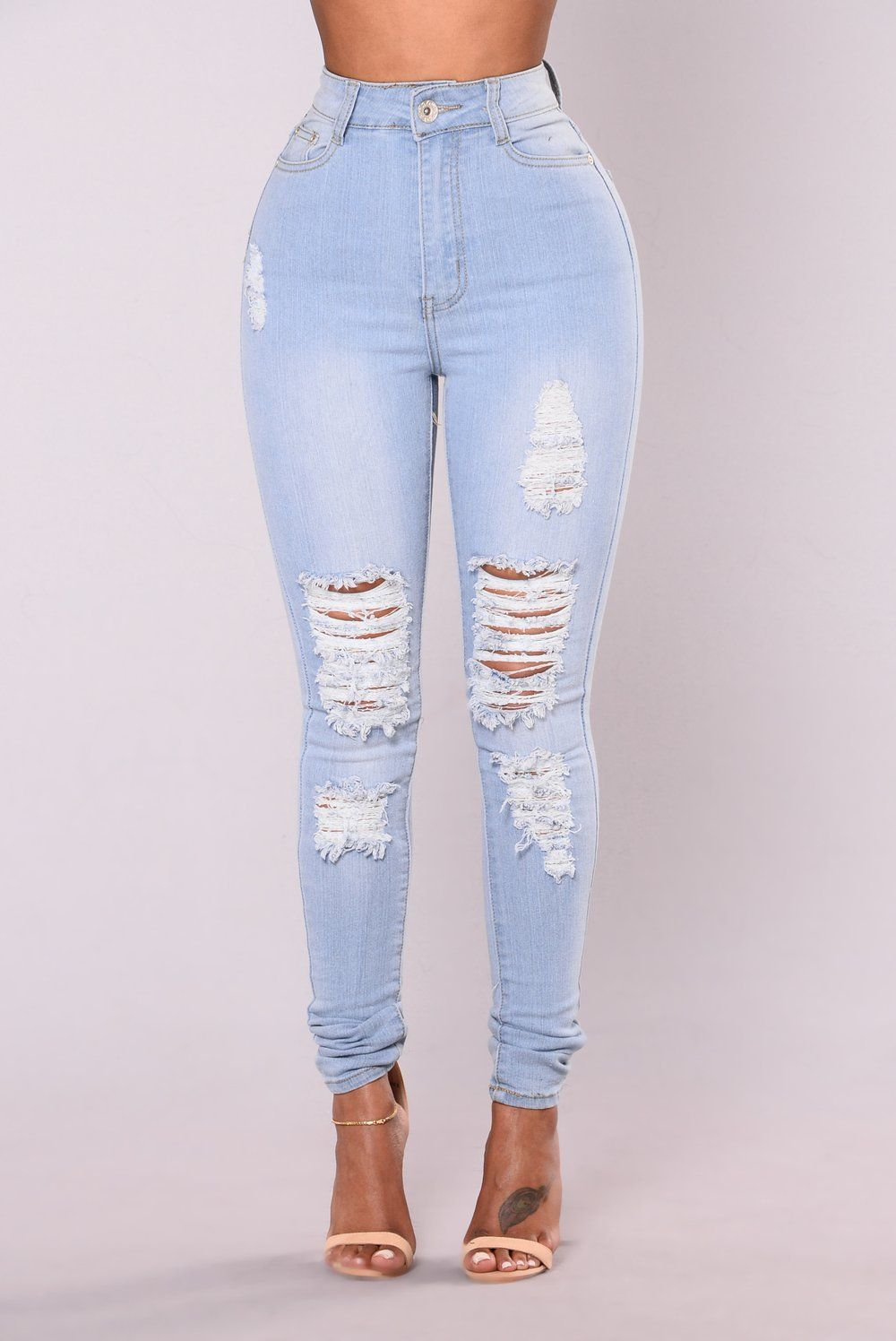 Tempe Distressed Jeans Light Wash Distressed Jeans Super Skinny Ripped Jeans Cute Ripped Jeans