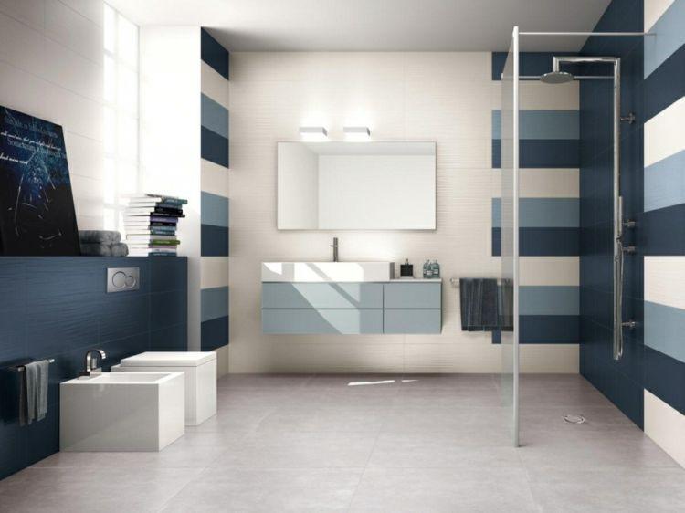 Blaue Fliesen fürs Bad \u2013 23 moderne Beispiele badezimmer Pinterest